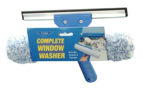 how to clean well windows with a squeegee