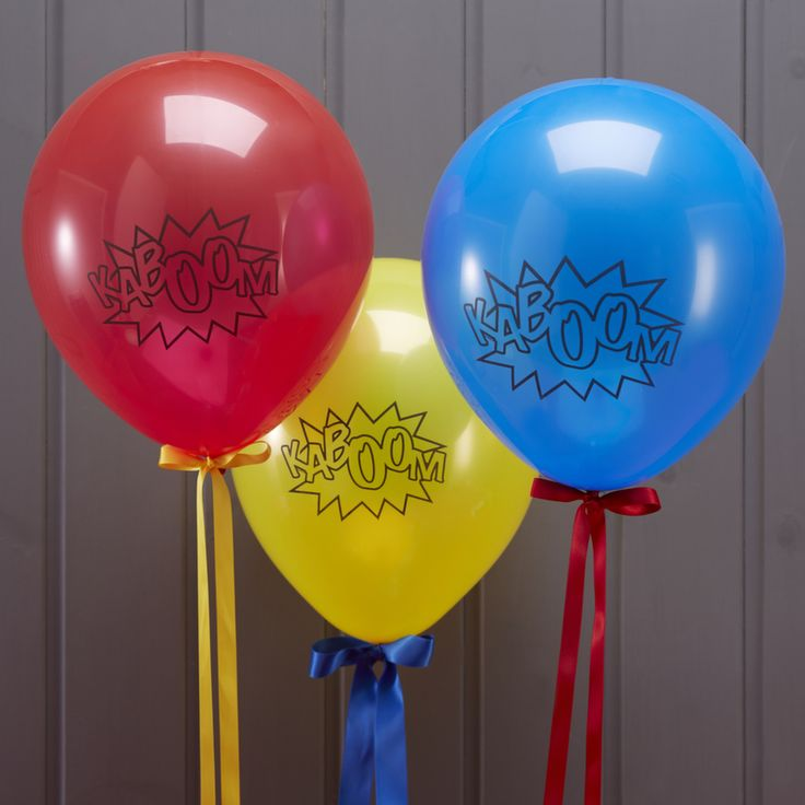 Comic Superhero Party Balloons (Pack of 10)