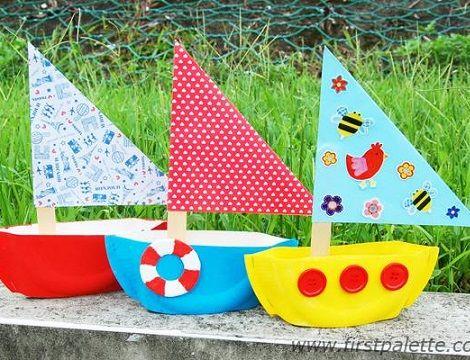 Como hacer un barco de papel con material reciclado