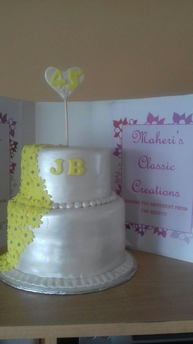 Jabu's 45th birthday cake.