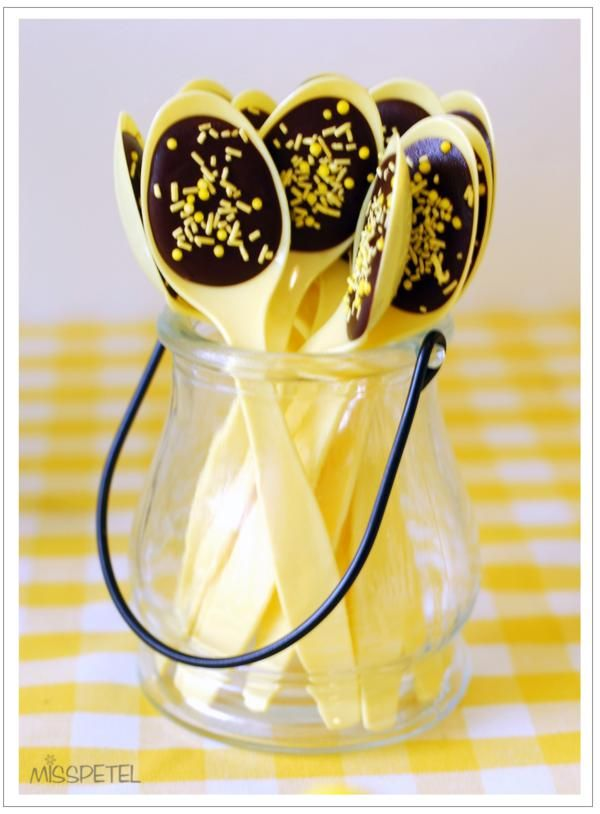 cucharas de chocolate para fiestas infantiles