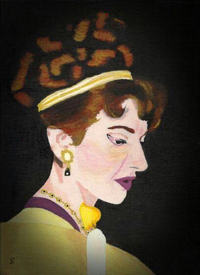 Kostas Giannopoulos (1975-), Callas as Tosca, acrylic on panel canvas