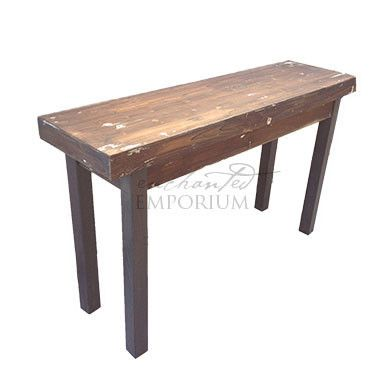 Industrial Vintage Side Table - HireA beautiful touch to any event, wedding, birthday, corporate event or just because! Available to hire Brisbane, Gold Coast, Sunshine Coast, Toowoomba + Northern NSW