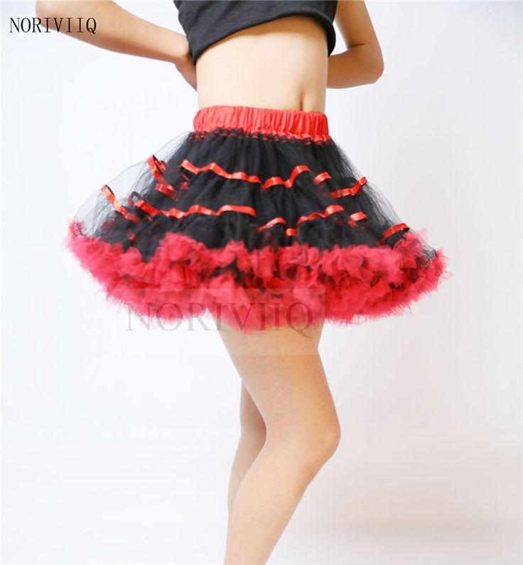Юбки мягкий тюль Короткие Черный Красный Женщины Ретро Платье Винтаж Рокабилли Нижняя Юбка Кринолин Underskirt нижняя юбка для Свадьбы