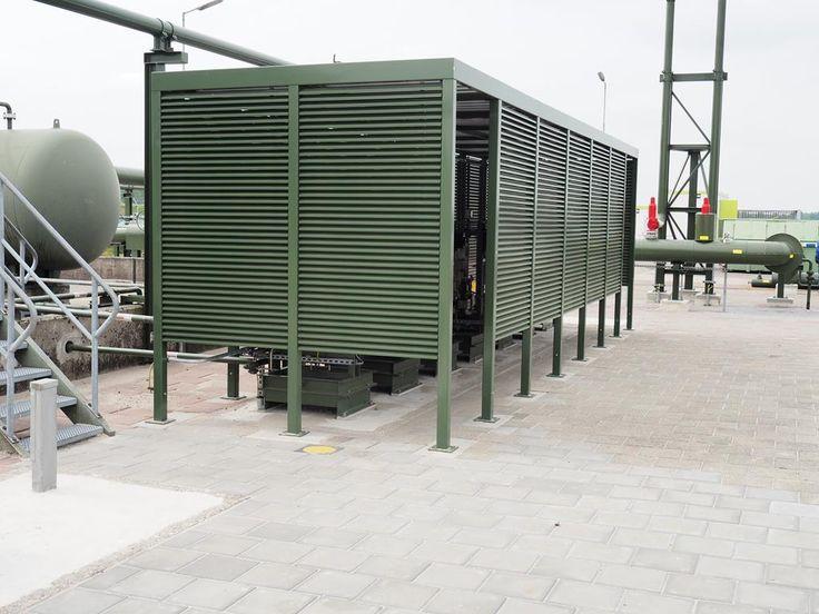Op maat gemaakte overkapping ter bescherming van diverse NAM installaties.