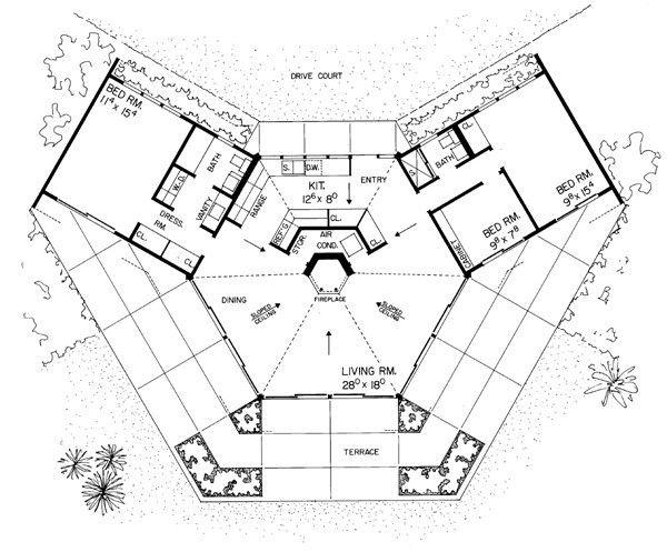Octagon House Plans Best Of Octagon House Plans Inspirational Hexagon House Plans Planos De Restaurantes Planos De Casas Contemporaneas Planos Casas Una Planta