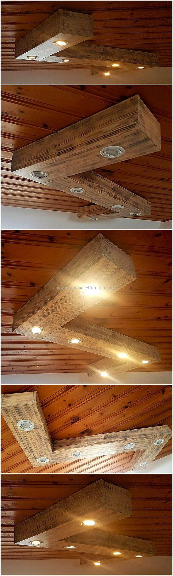 Everyone desires to decorate his room, but you are looking for something exceptional than a simple wooden furniture then, craft this pallet LED roof hanger lamp for your room. This is not only a different wooden product but also turning the atmosphere of this room to glow and breathe. This attractive structure is entirely crafted with useless wood pallets to provide you something best at a cheap price.