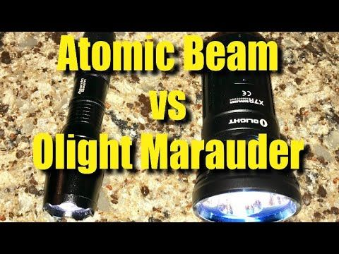 The Olight X7R Marauder LED Flashlight versus The Atomic Beam https://youtu.be/-YKy-CpGT1A