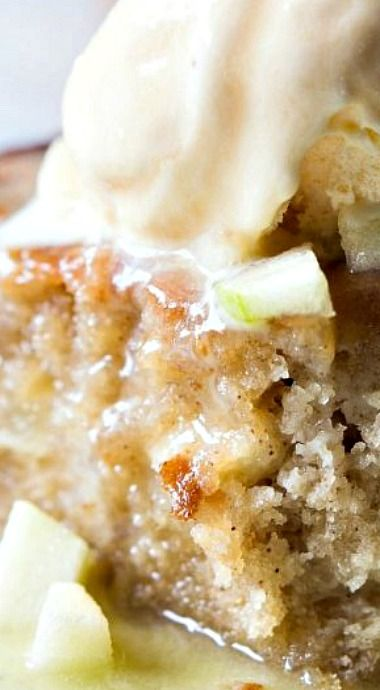 Caramel Apple Skillet Cake