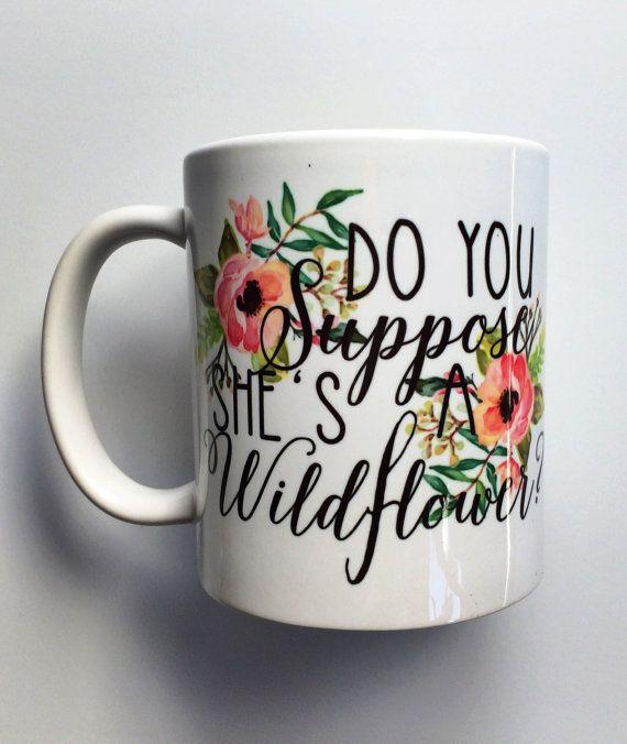 Do You Suppose She's a Wildflower Mug by brushandbow on Etsy