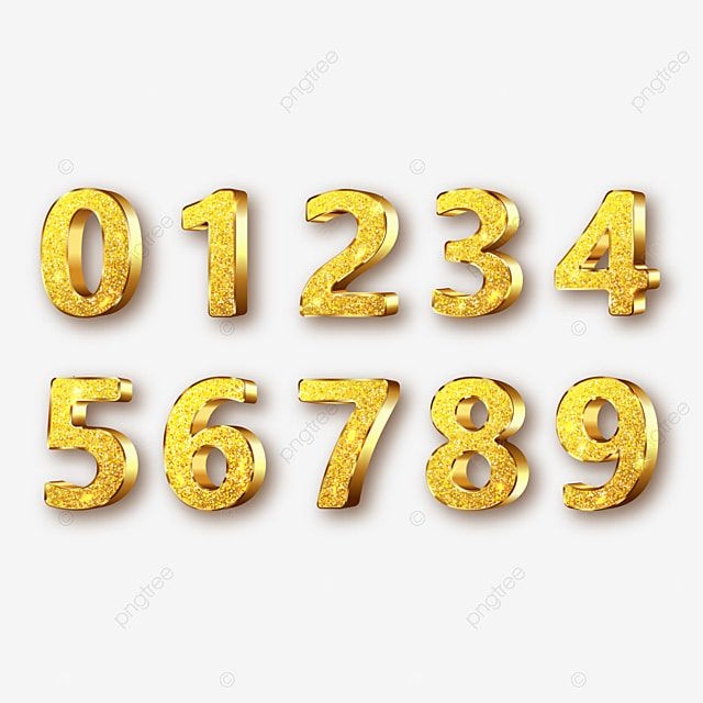 Golden Metal Numbers Realistic With S Gold Clipart Number Metal Png And Vector With Transparent Background For Free Download Numbers Font Metal Numbers Princess Cake Toppers