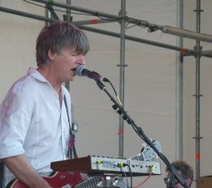Neil Finn performing with The Pajama Club at St. Jerome's Laneway Festival, January 30th: Silo Park, Auckland City
