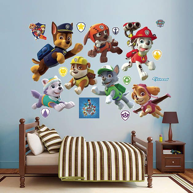 Fathead Paw Patrol Puppies Collection Decal - Wall Sticker Outlet