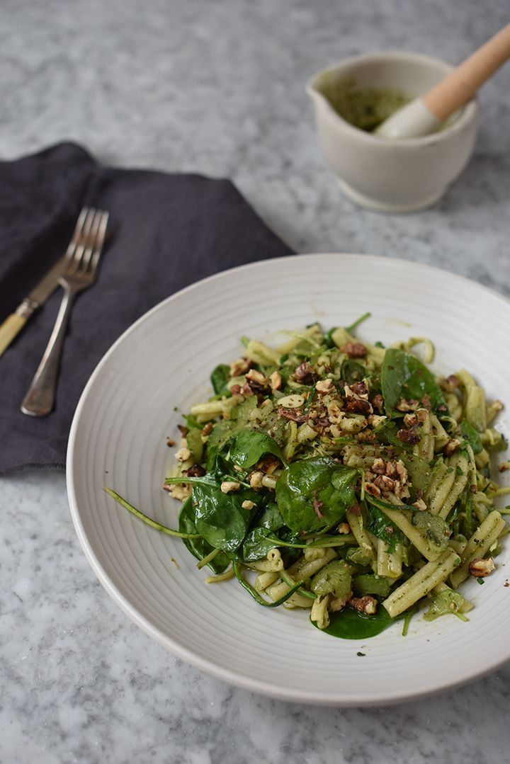SPINACH, COURGETTE & BASIL PASTA