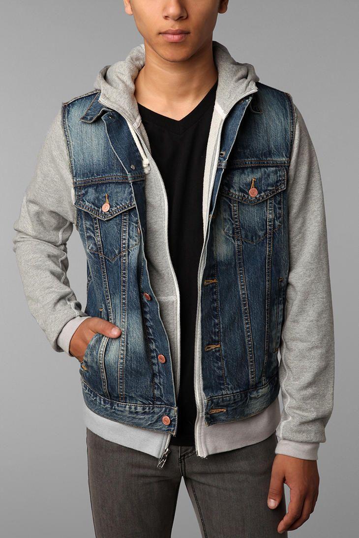 11 best Denim Leather sleeve Jacket images on Pinterest | Denim ...
