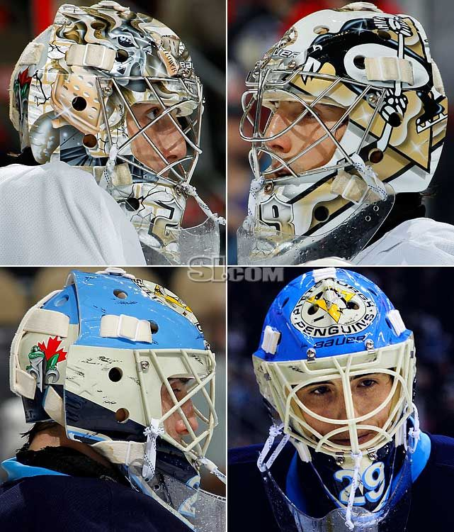 Marc-Andre Fleury of the Pittsburgh Penguins is a little more flashy