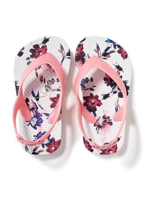 Patterned Flip-Flops (Old Navy) for next summer