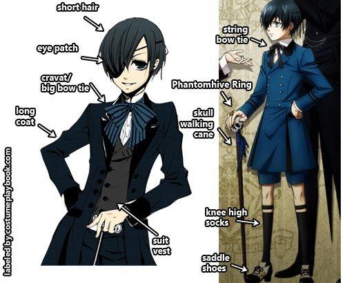 ciel - black butler costume - phantomhive anime