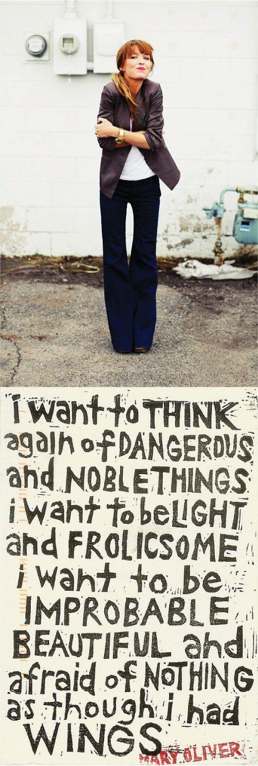 dangerous & noble.