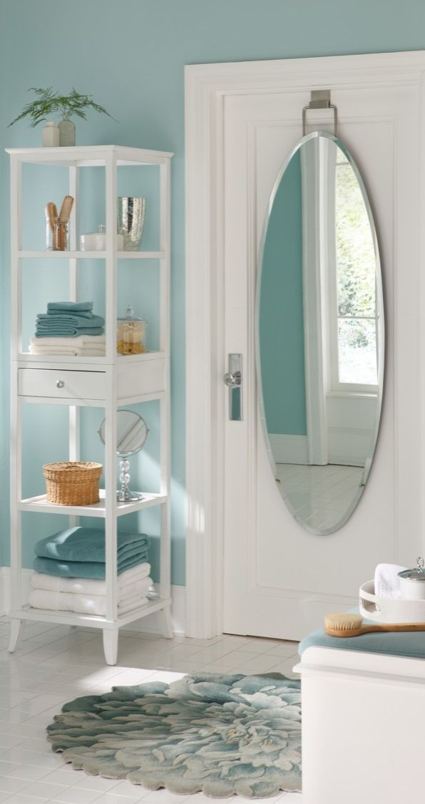 Over Door Beveled Door Mirror Bath Essentials Over The