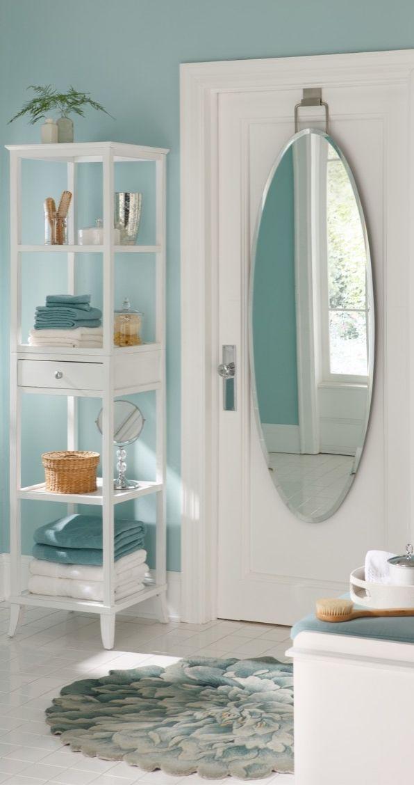 Overdoor Beveled Door Mirror  Bath Essentials  Over the