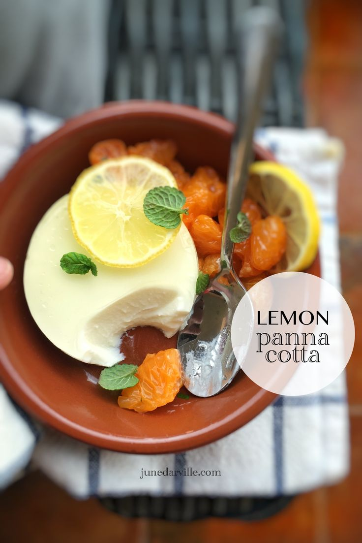 Lemon Panna Cotta, best panna cotta recipe ever: creamy, smooth, flavorful, light, refreshing, melts in your mouth…