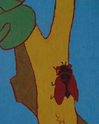 熊谷守一が蝉を描いているのは知らなかった 1961年(昭和33年)作・婦人之友社所蔵 2012年熊谷守一展図録より部分転載