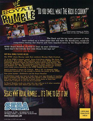 2001+SEGA+WWF+ROYAL+RUMBLE+VIDEO+FLYER+MINT
