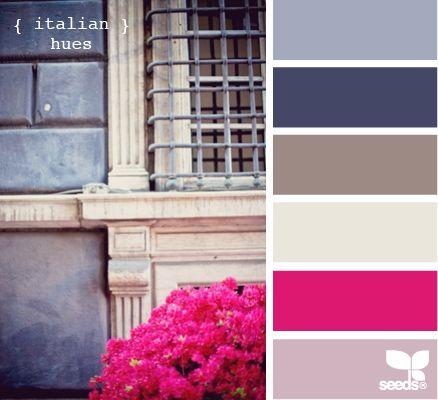 Italian huesColors Pallets, Color Palettes, Living Room Colors, Design Seeds, Italian Hues, Colors Palettes, Room Colors Schemes, Colours, Simon Sayings