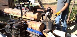 DIY Video: How to build a Simple but very effective Homemade Firewood Processor using an Old jet ski trailer and other scrap materials.Save tons of money……