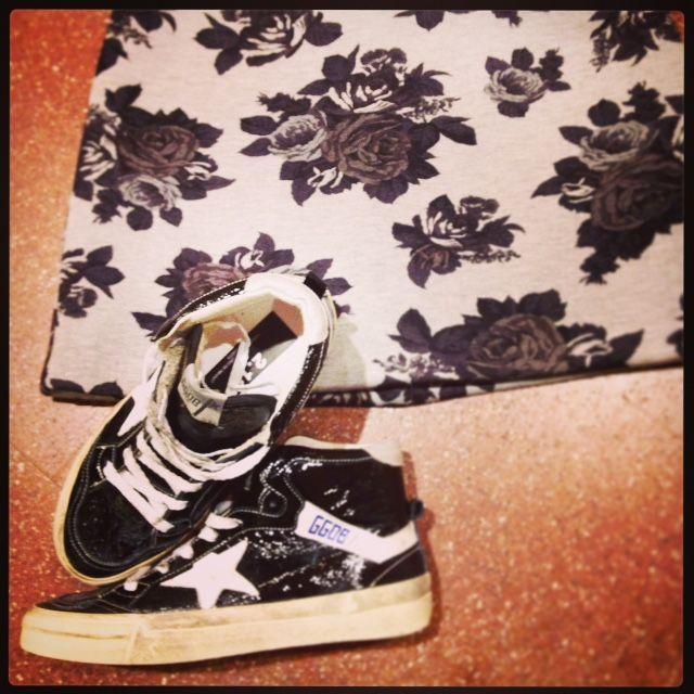 MSGM skirt Golden Goose sneakers