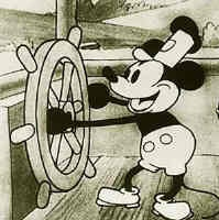 Steamboat Willie-Mickey Mouse, originally a theater animation, appeared on the big screen for the first time on November 18, 1928