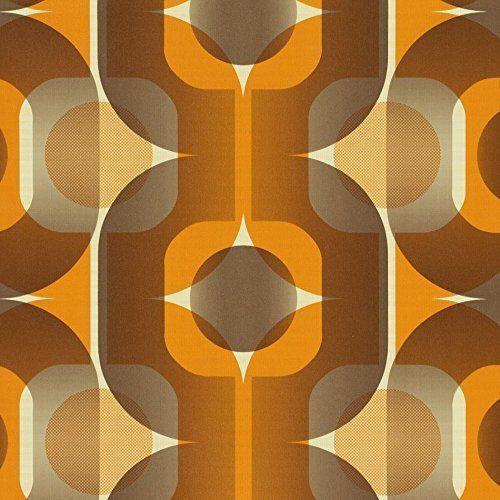 AS Creation Thank You 1974 Orange Retro Paste the Wall Wallpaper