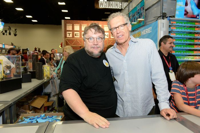 Guillermo del Toro (Executive Producer/Director), Carlton Cuse (Executive Producer/Writer) The Strain Cast Comic Con San Diego 2014