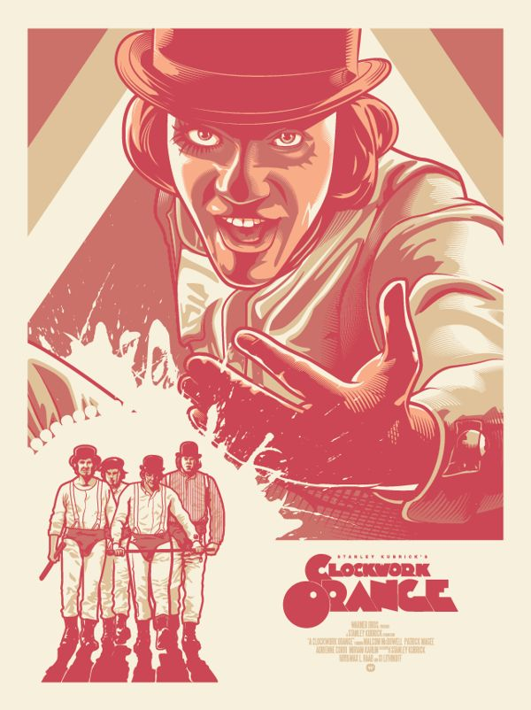 Clockwork Orange Fan Art Poster by Paul Ainsworth, via Behance