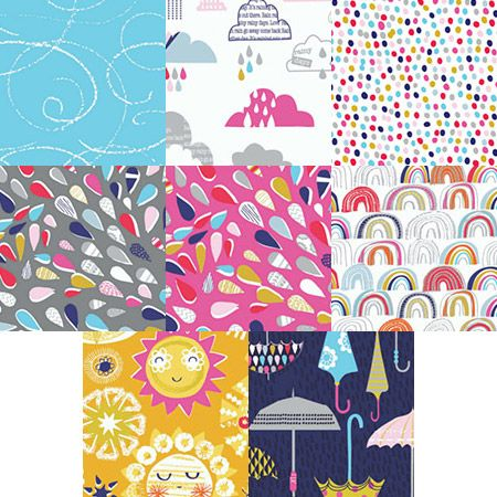 Rain or Shine fat quarter bundle. Australian online supplier of Dashwood Studio's Rain or Shine collection by Stephanie Thannhauser. Fast delivery Australia and world wide.
