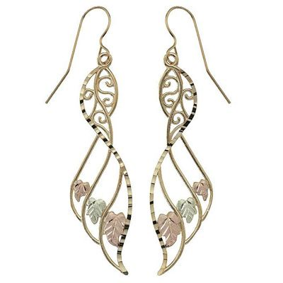 Black Hills Gold Wing Earrings