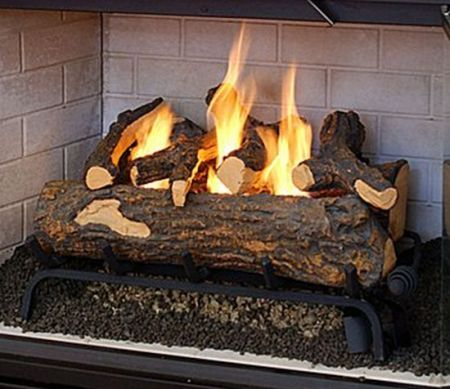 Real Flame gel fuel fireplace crackles like a real log fire