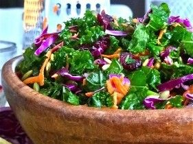 Traditional coleslaw gets an extreme green makeover when superfood kale enters the picture! This colorful salad makes a unique and tasty addition to any holiday table.