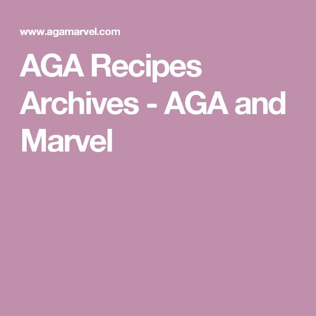 AGA Recipes Archives - AGA and Marvel