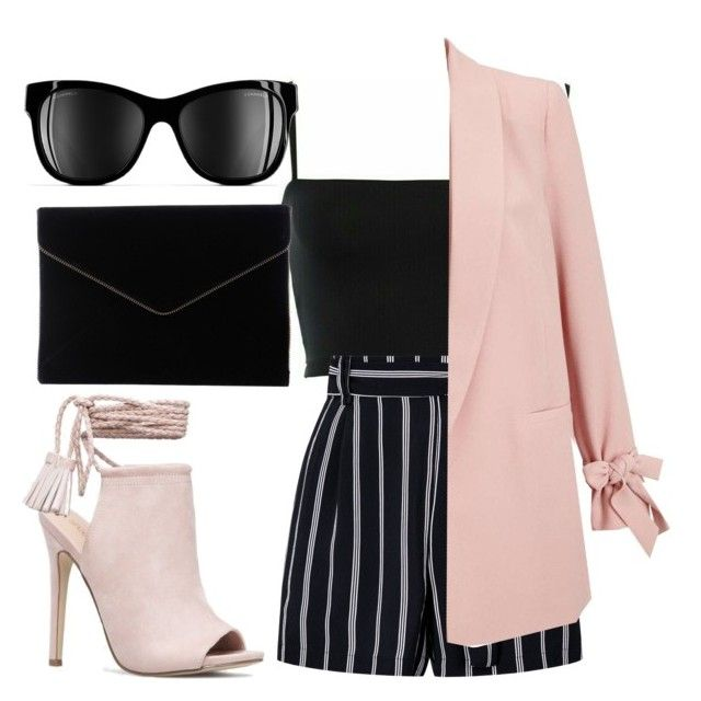 """Pink & Powerful"" by liaperezmorales on Polyvore featuring JustFab, Miss Selfridge, Chanel and Rebecca Minkoff"