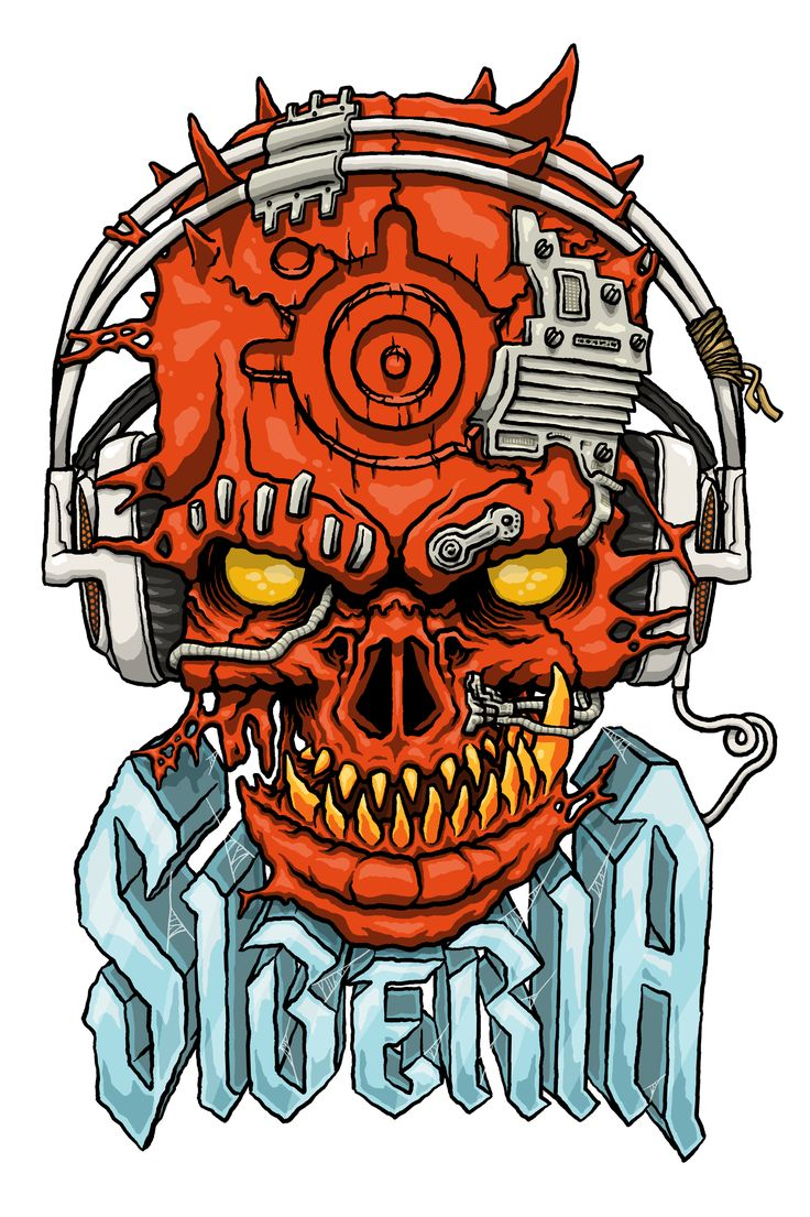 T-shirt design for Steelseries 'Siberia' headphones   www.totcph.com