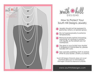 South Hill Designs Chain Lengths www.getalocket.com
