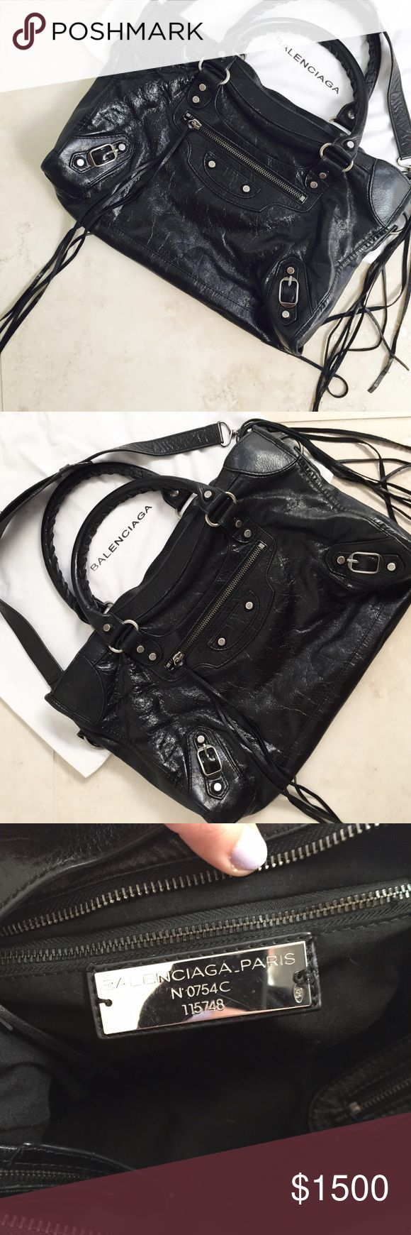 Balenciaga Classic City Bag Balenciaga Classic City Bag (Small)  • EUC • loose thread & minor scratching on     label plate (photo #3) are the only signs of wear  • comes with dust bag (signs of wear on dust bag include a small tear and some minor staining)  ✖️ NO TRADES ✖️ Reasonable offers welcome. Balenciaga Bags Satchels