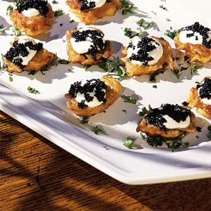 ... Cream and Caviar | MyRecipes.com- use smoked salmon and creme fraiche