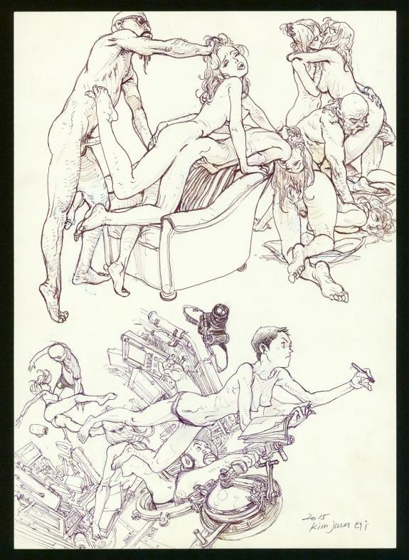 Kim Jung Gi - Illustration originale