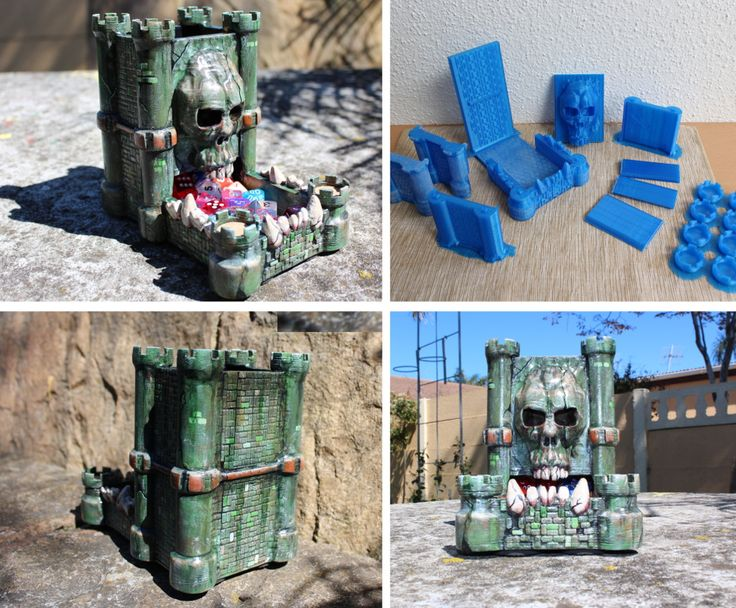 Create your own 3D printed Dice Tower for some sweet bragging rights.