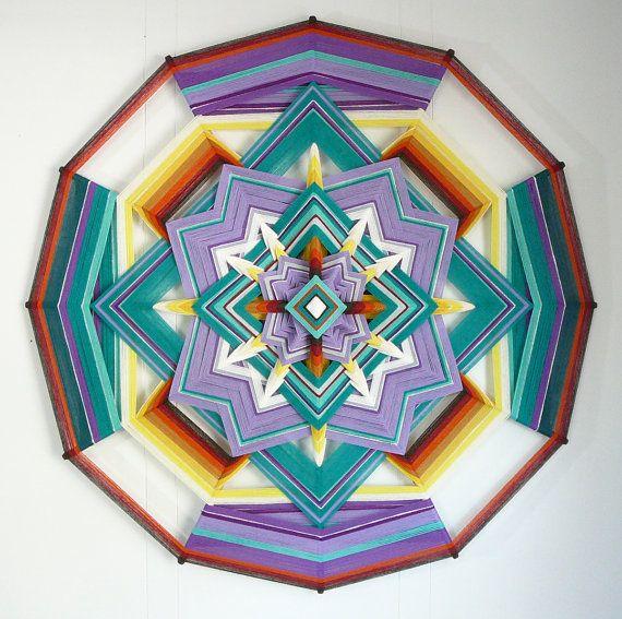 Maraposa Hermosa, beautiful butterfly, a 36 inch 12 sided yarn mandala now in my etsy.com shop