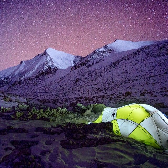 Sleeping under the star-filled Himalayan sky.