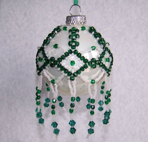 Decorate Christmas Tree With Beads: 1106 Best Beaded Christmas Tree Ornament Images On